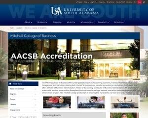 University of South Alabama MBA from AL