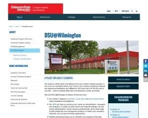 Delaware State University MBA from DE