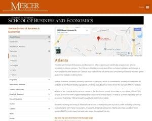 Mercer University-Macon and Atlanta Campuses MBA from GA