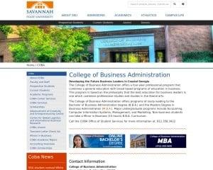 College of Business Administration at Savannah State University MBA Program in Savannah, GA