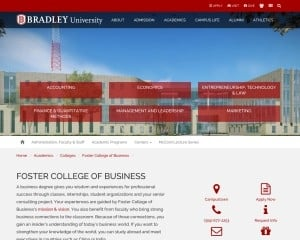 Bradley University MBA from IL