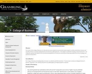 Grambling State University MBA from LA