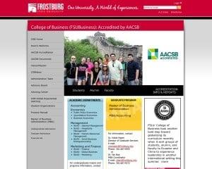 Frostburg State University MBA from MD