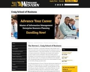 Steven L. Craig School of Business at Missouri Western State University MBA Program in St. Joseph, MO