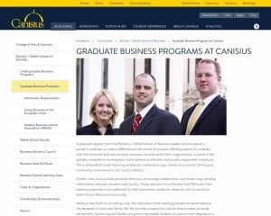 Richard J. Wehle School of Business at Canisius College MBA Program in Buffalo, NY