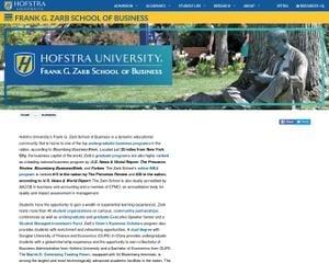 Frank G. Zarb School of Business at Hofstra University MBA Program in Hempstead, NY