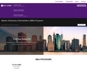New York University MBA from NY