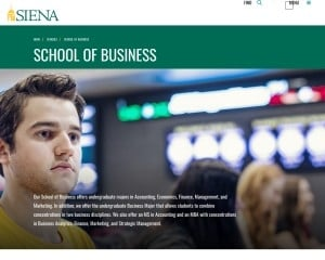 Siena College MBA from NY