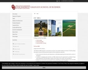 Michael F. Price College of Business at University of Oklahoma MBA Program in Norman, OK