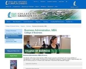 Texas A & M University-Corpus Christi MBA from TX