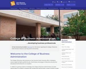 College of Business Administration at Sam Houston State University MBA Program in Huntsville, TX