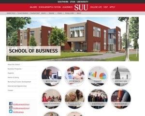 School of Business at Southern Utah University MBA Program in Cedar City, UT
