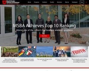 University of Utah MBA from UT