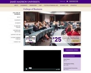 James Madison University MBA from VA